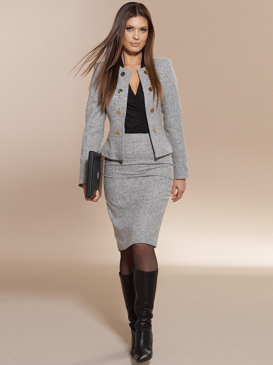 Женский деловой костюм юбка пиджак