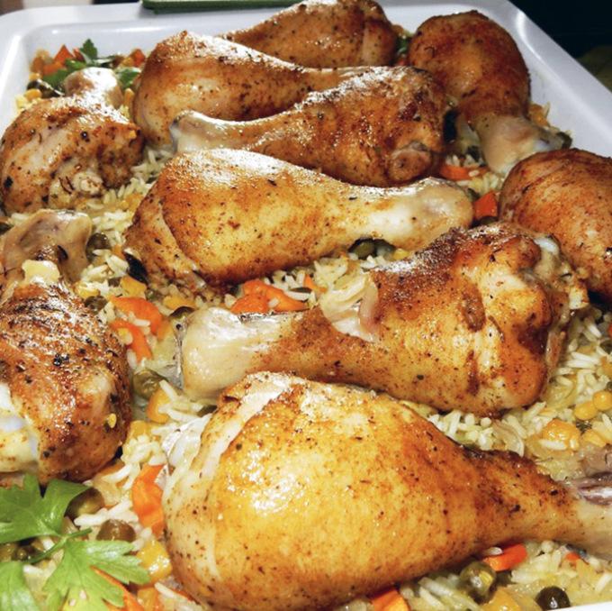 Как вкусно сделать курицу с рисом