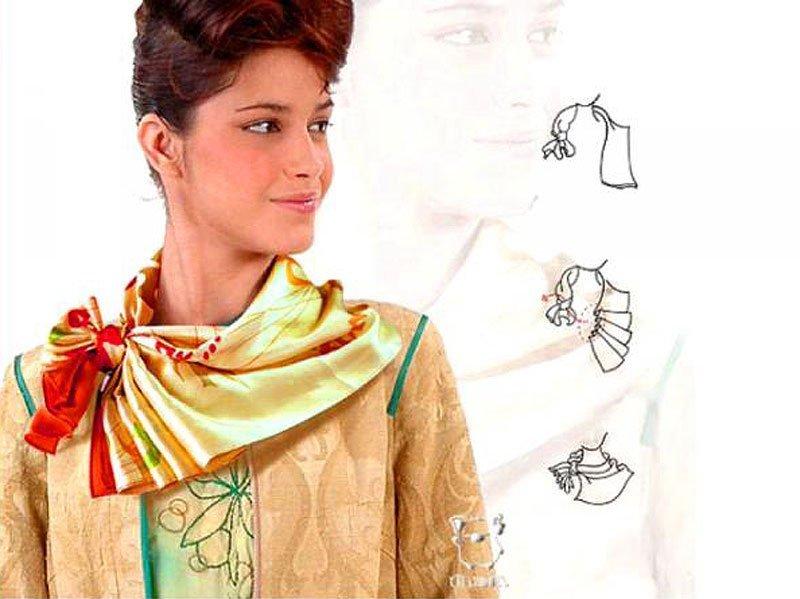 Шифоновый шарф для платья