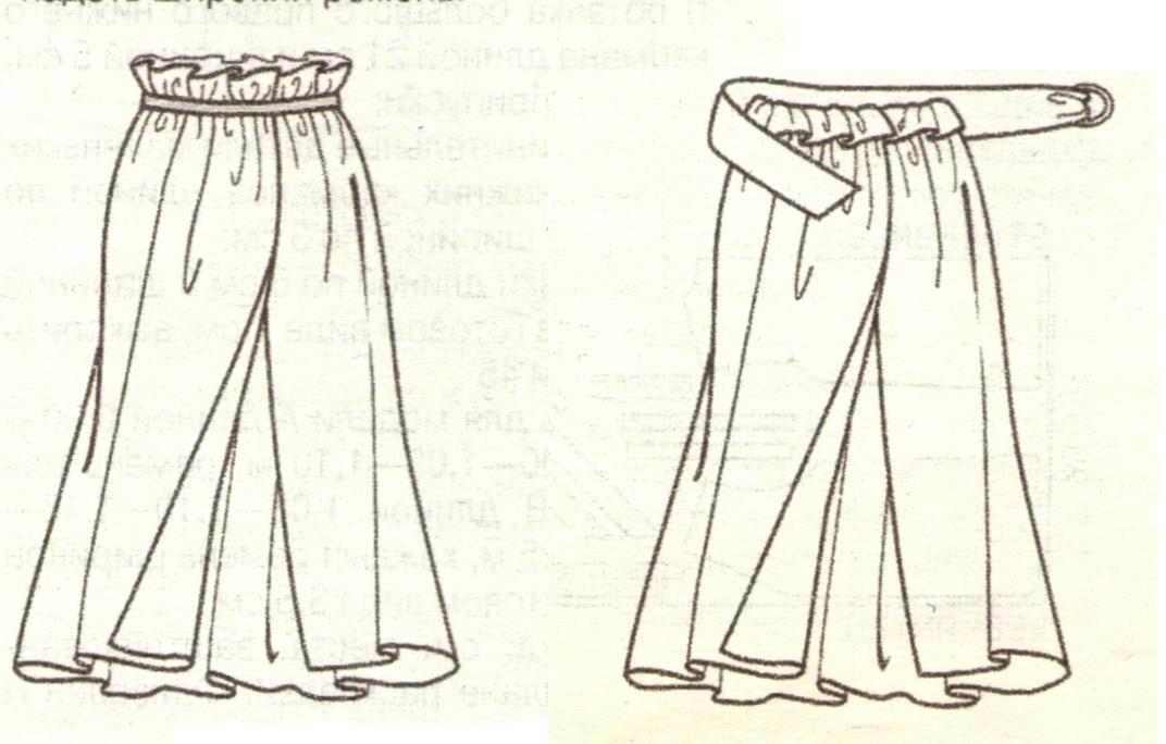 Сшить юбки с запахом 85