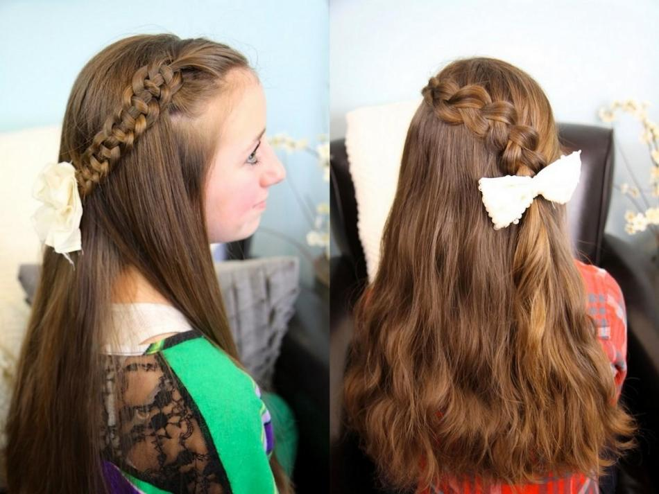 Причёски для фотографии в школе
