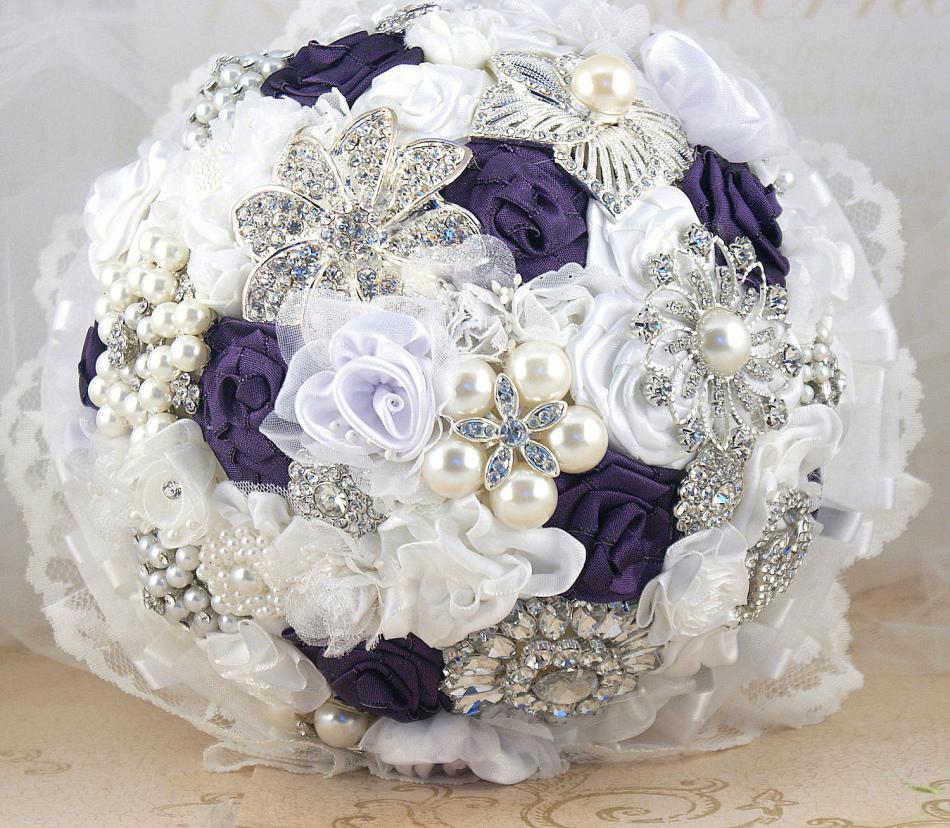фото свадебные букеты из лент