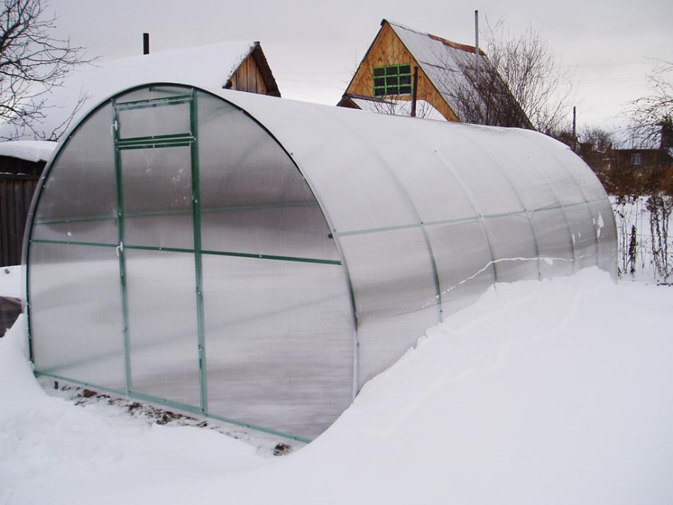 Теплица из поликарбоната зимняя видео