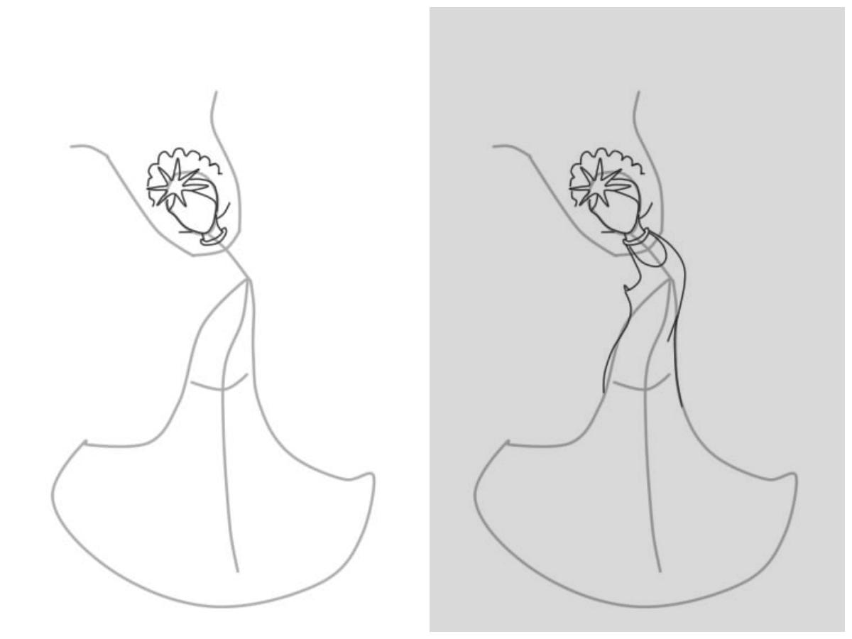 Как нарисовать царевну лебедь поэтапно Lessdraw