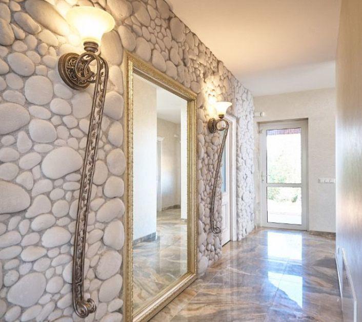 Дизайн фальш стены из гипсокартона фото первых