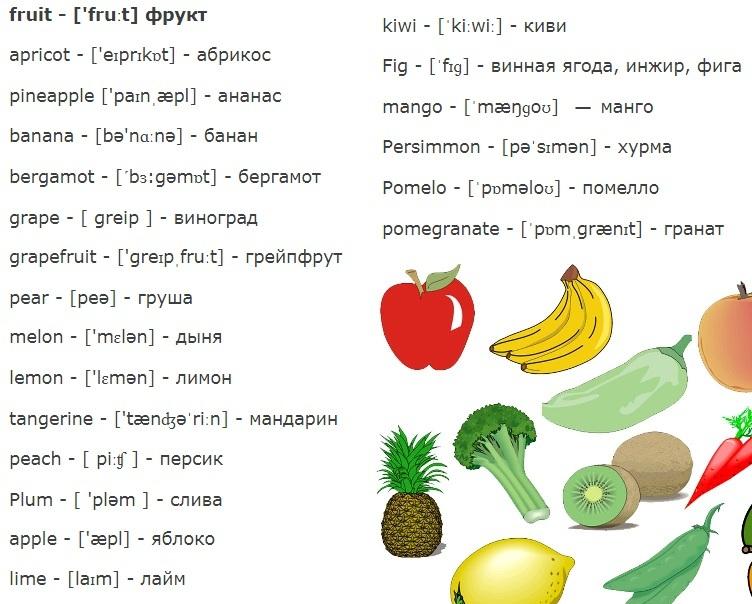 картинки на английском с переводом для повторения