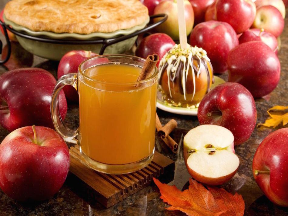 Превосходный яблочный безалкогольный глинтвейн с имбирём