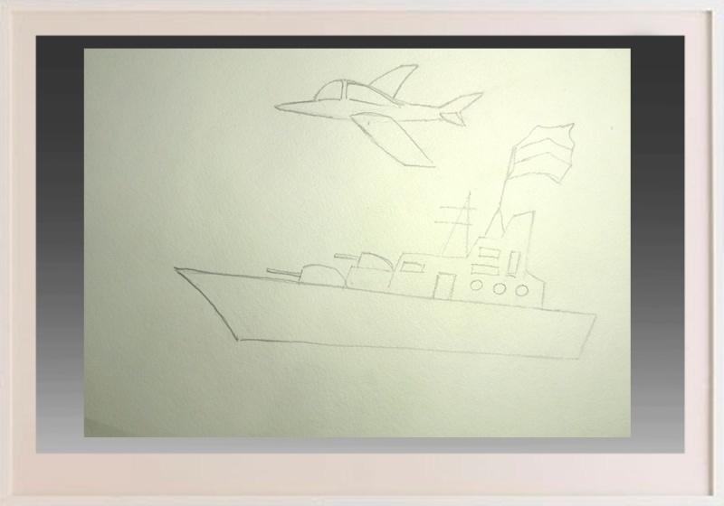 risuem-flag Как нарисовать праздничный Парад военных кораблей на Параде Победы? Как нарисовать военный корабль карандашом и красками для ребенка поэтапно?    Класс Рисуем корабль в рукодельной энциклопедии Pro100hobbi