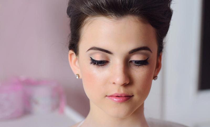 Нежный макияж глаз на свадьбу