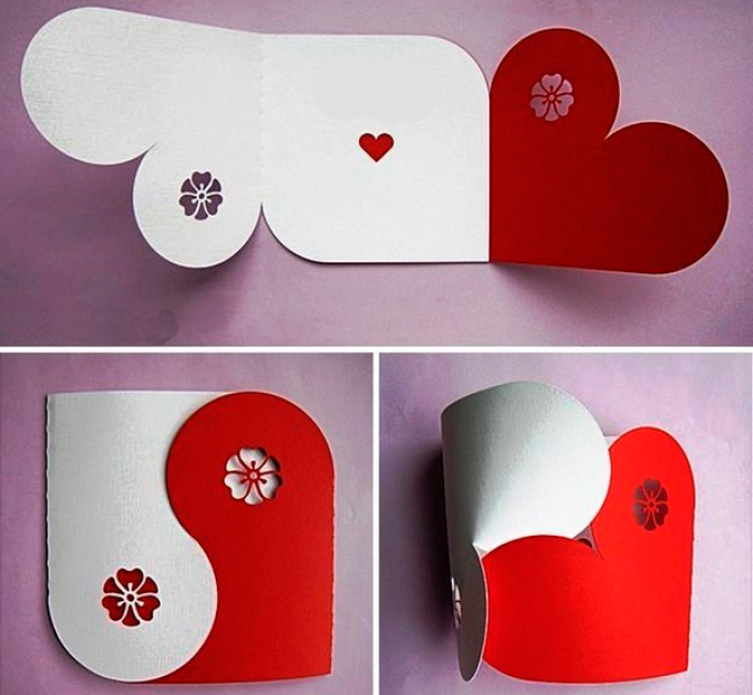 029c4dfa9389462cb4078bb5db95cecb Поделка — валентинка своими руками из бумаги, ткани: шаблоны, выкроки. Как сделать красивую валентинку своими руками маме, парню, в школу?