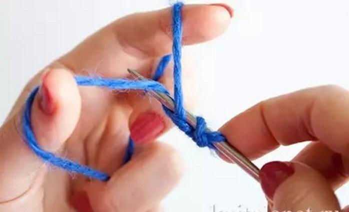 process-vyazaniya Итальянский набор петель спицами: видео, как набрать, способы, эластичный, для резинки 1х1, схема