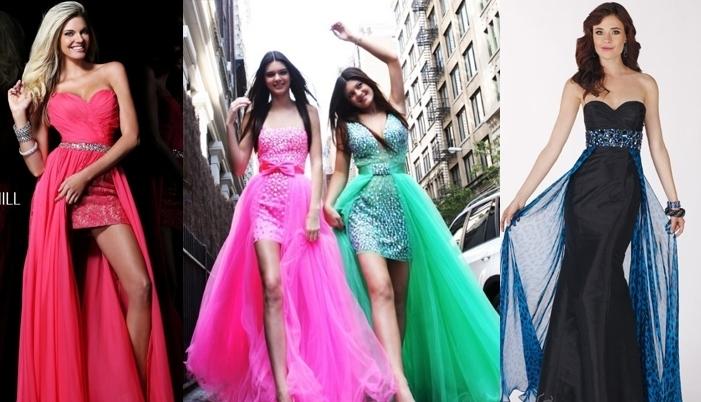 plate-transformer-s-otstegivayusheisya-yubkoi---varianti-obraza Платье трансформер: варианты вечерних платьев. Как сшить платье со съемной юбкой своими руками?
