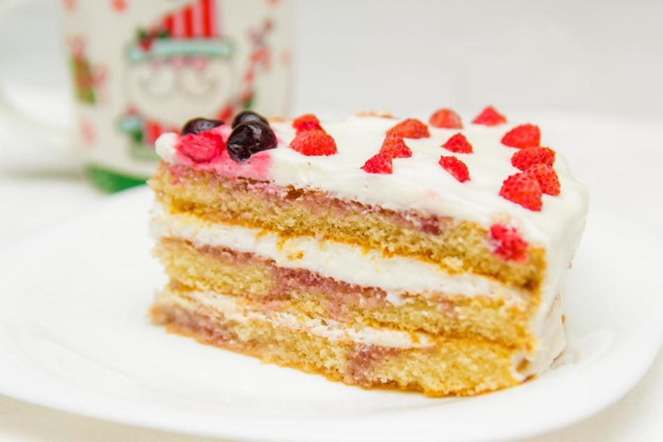 Торт из коржей готовых
