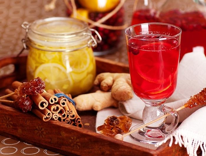 Клюква с ягодами, лимоном, медом