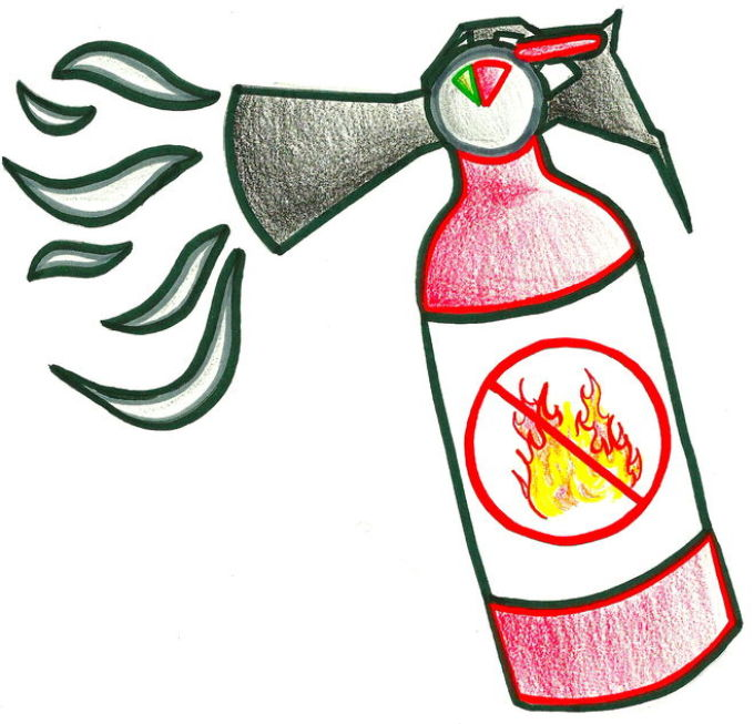 рисовать огнетушитель картинки сигналы