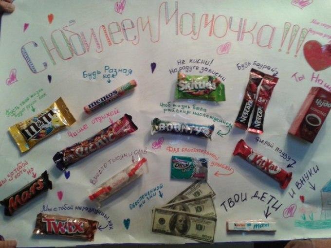 Открытки, открытка сделай сам с днем рождения из шоколадок