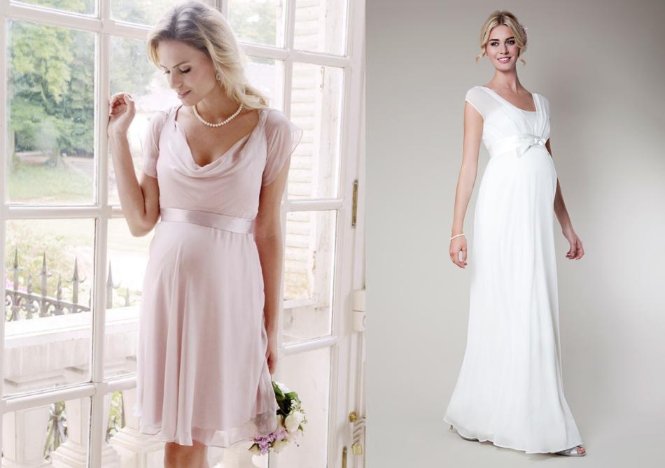 Платье для беременных из мягкой, струящейся ткани