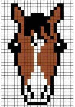 golova-loshadi-po-kletochkam Как нарисовать настоящую лошадь карандашом поэтапно для начинающих и детей? Как нарисовать красиво морду, гриву лошади, бегущую, стоящую лошадь, в прыжке?