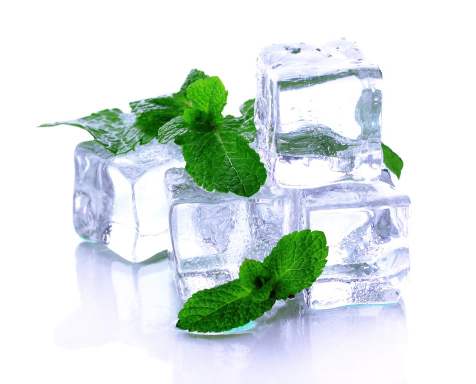 Лёд охладит кожу