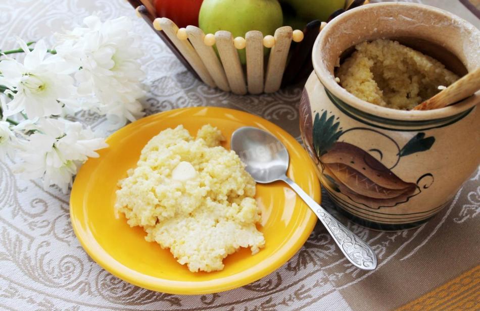 Пшенная каша может быть отдельным блюдом, либо же служить гарниром