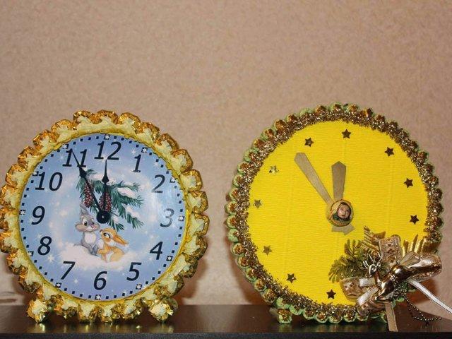 Как сделать поделку часы на новый год