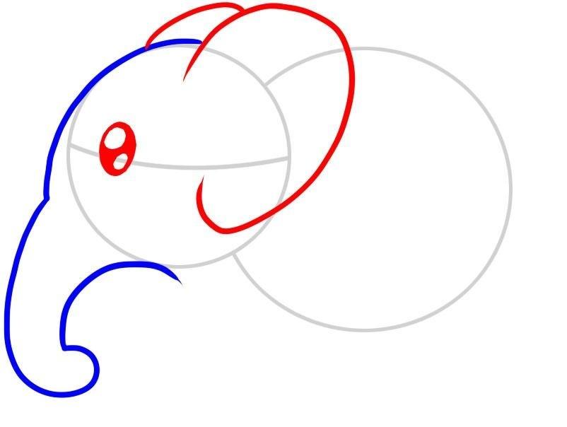 kak-narisovat-slona-karandashom-dlya-detei-i-nachinayushih-risuem-ushi-i-glaza-zhivotnogo Как нарисовать слона поэтапно: 5 вариантов как легко и просто нарисовать слона карандашом