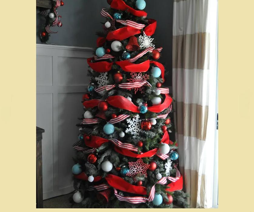 Украшение елки в красно-синем цвете: идеи, советы, последовательность, фото