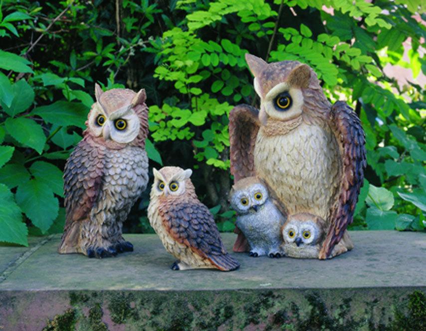 Идеальное семейство совушек для вашего сада