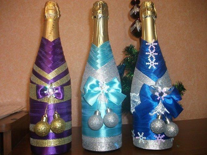 10bbf9983180cd9c48aa2b5e48c4a7c2 Декор бутылки на праздник в день рождение малыша