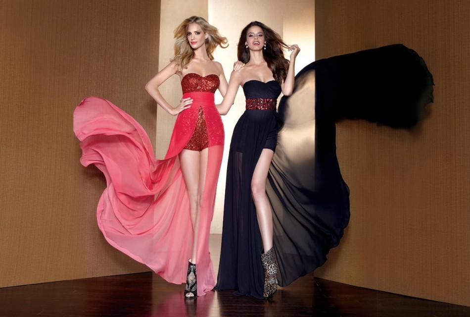 stilnie-vechernie-platya-transformeri Платье трансформер: варианты вечерних платьев. Как сшить платье со съемной юбкой своими руками?