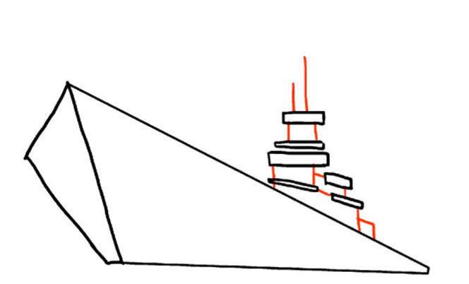 1207180ffd51045140629513ff2d0308 Как нарисовать праздничный Парад военных кораблей на Параде Победы? Как нарисовать военный корабль карандашом и красками для ребенка поэтапно?    Класс Рисуем корабль в рукодельной энциклопедии Pro100hobbi