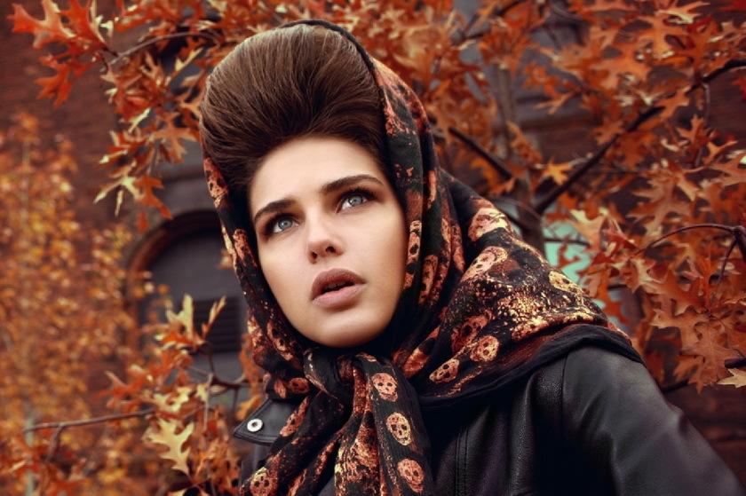modnii-obraz-v-stile-retro Как красиво завязать на голову шарф разными способами? Как красиво и стильно завязать шарф на голове летом, с пальто, мусульманке?