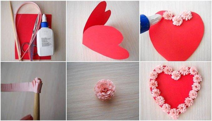 1365c9e1ea5912332a5b9c5ce362e794 Поделка — валентинка своими руками из бумаги, ткани: шаблоны, выкроки. Как сделать красивую валентинку своими руками маме, парню, в школу?