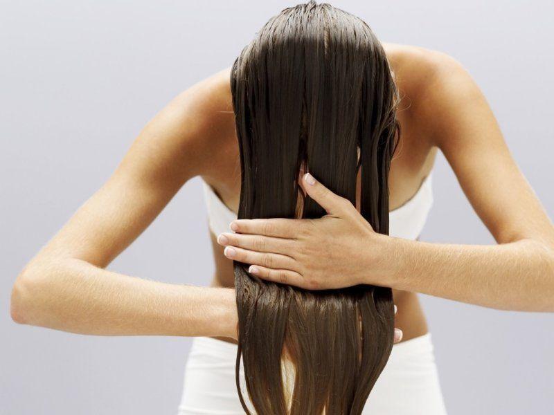 Промывание волос