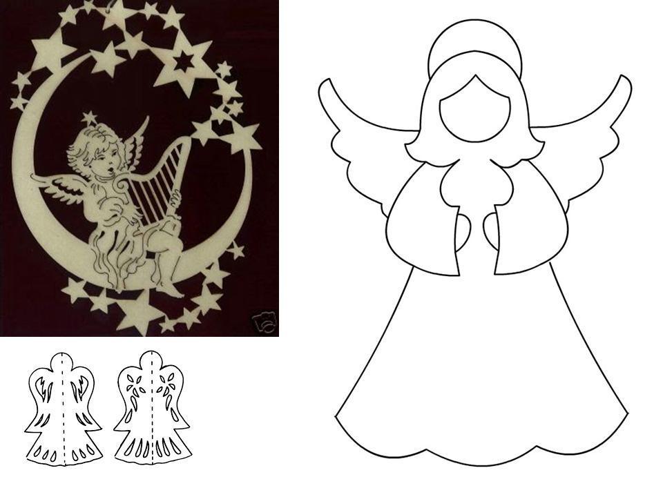 Сделать рождественская открытка ангел из бумаги