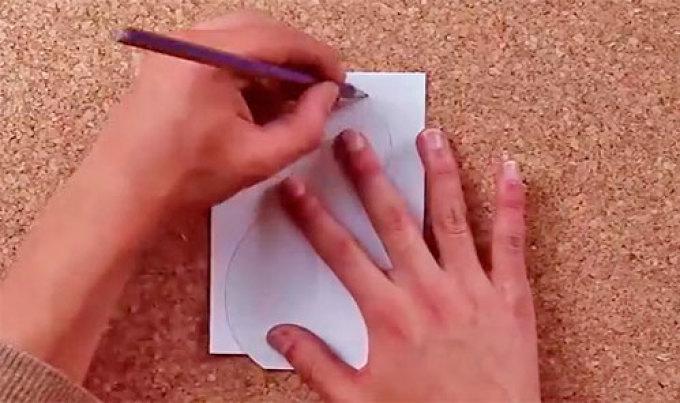 Рисуем фигурку снеговика