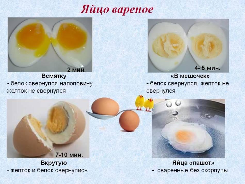 Варианты приготовления яиц