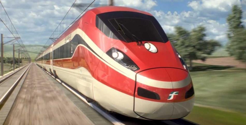 Скоростной поезд trenitalia, апулия, италия