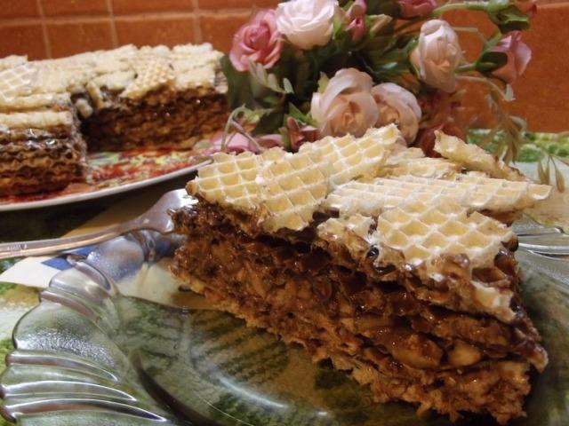 закусочные торты из вафельных коржей рецепты с фото