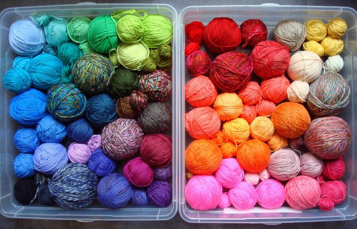 Многообразие пряжи для вязания