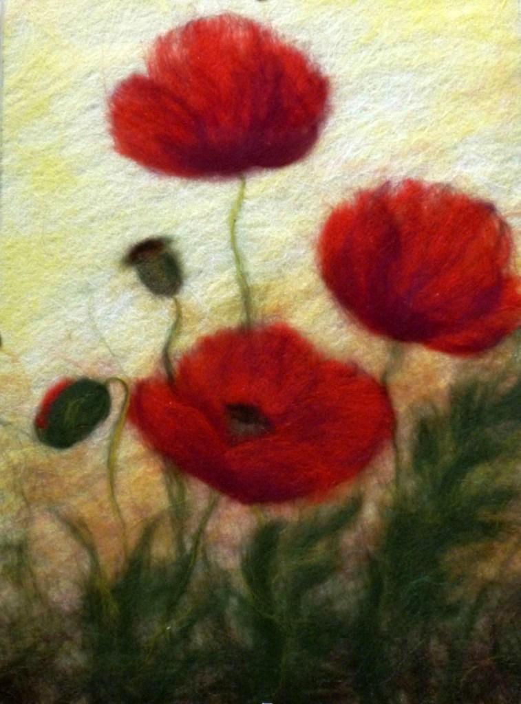 kartini-izgotovlennie-blagodarya-feltingu-ochen-shozhi-s-akvarelyu Мастер класс сухое валяние