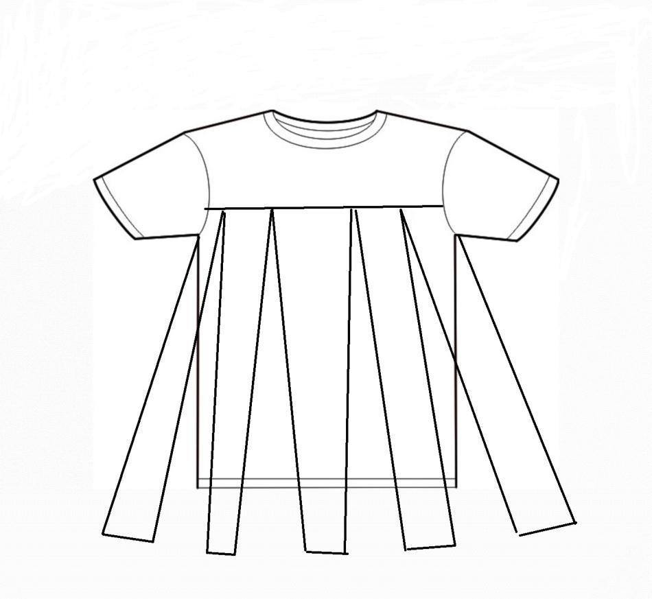 Платье для беременных на кокетке без выкройки