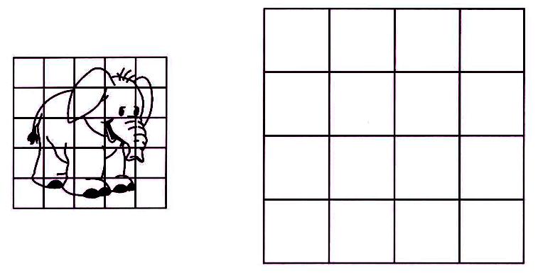 risovanie-slonenka-po-kletkam Как нарисовать слона поэтапно: 5 вариантов как легко и просто нарисовать слона карандашом
