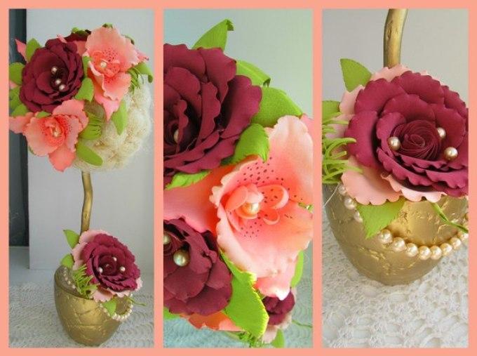topiarii Цветы из фоамирана своими руками 75 фото для начинающих