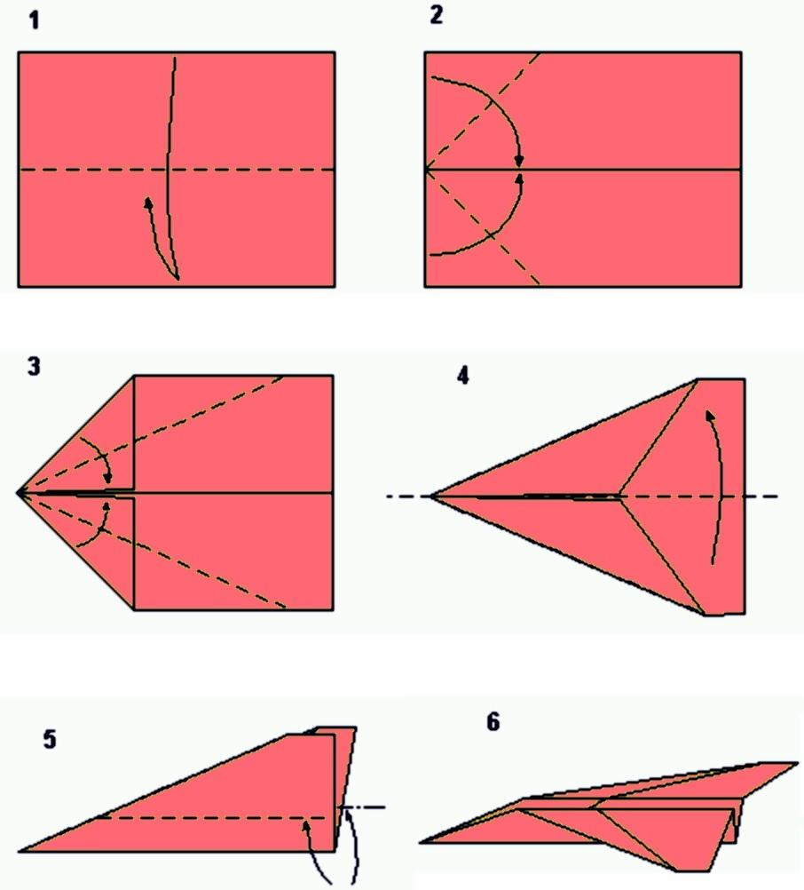 Как сделать самолетик из бумаги поэтапно фото 796