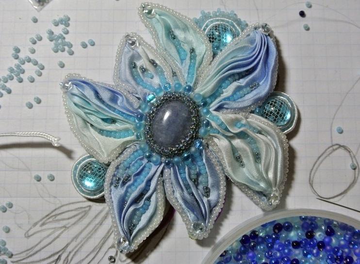 Вот так выглядит теперь шибори-цветок