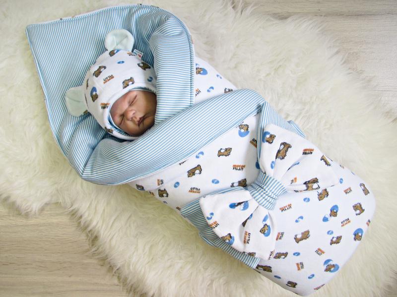 nabor---konvert-i-originalnaya-shapochka-dlya-novorozhdennogo Как сшить зимний утепленный конверт для новорожденного