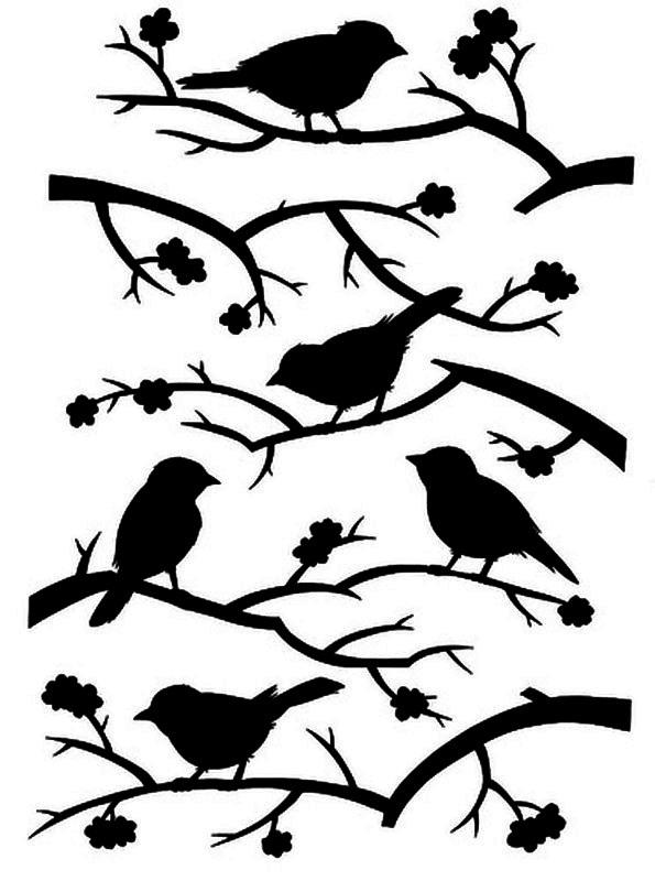 птички на ветке картинки для вырезания обязательно попросят добавки