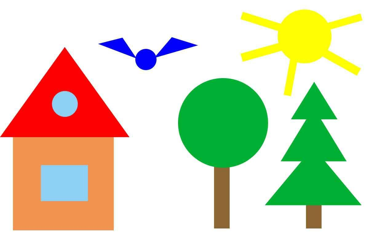 Рисунок из геометрических фигур для дошкольников