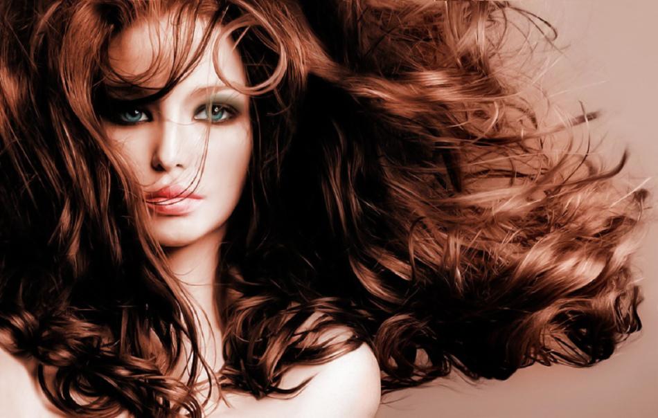 Красивые волосы с лопухом